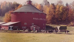 The barn was used for dairying until the end. This is an earlier view of the barn.
