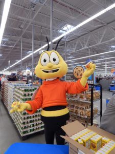 This bee was apparently representing Cheerios.