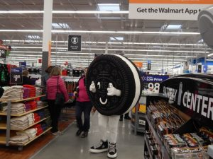 There was at least one Oreo cookie running around the store.