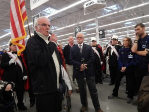Philippe Dutil, the mayor of Stanstead, Quebec, was also on hand at the event.