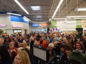 A huge crowd turned out for the grand opening.