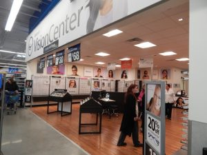 The store also includes a vision center.