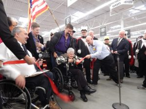 98-year-old Gisele Seymour of Derby cut the ceremonial ribbon.